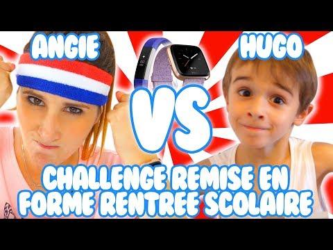 ANGIE VS HUGO : CHALLENGE REMISE EN FORME RENTRÉE SCOLAIRE!! ANGIE LA CRAZY SÉRIE