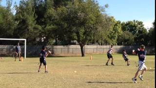 2015 Arcadia Redskins - Playoff Game #1 - Chaz Bats Down a Ball To Save a TD