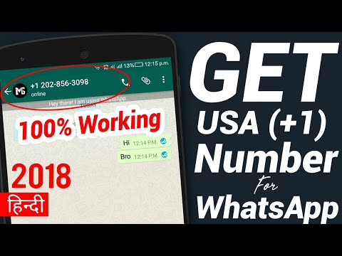 How To Get USA Number For WhatsApp