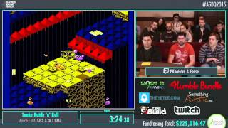 Awesome Games Done Quick 2015 - Part 46 - Snake Rattle 'N' Roll by PJ and Feasel
