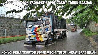 Download Full Terompet Kapal Darat!!! Konvoi 3 Dump Truck Tronton Hino ft. Fuso Asli Ganteng + Mbois