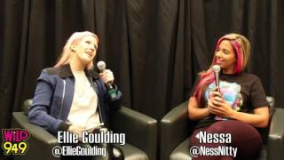 Nessa Interviews Ellie Goulding @ Wild 94.9 on September 13,2012