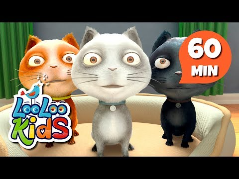 Three Little Kittens - THE BEST Nursery Rhymes and Songs for Children | LooLoo Kids