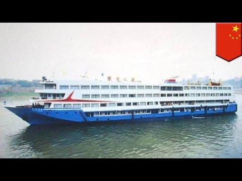 中国・長江で458人乗せた客船沈没 竜巻影響か
