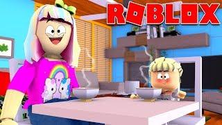 Família feliz Roblox | Mamãe e bebê Kira manhã rotina em Bloxburg!