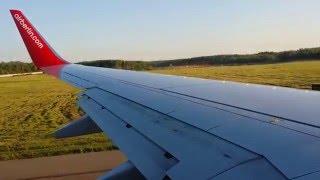 Захватывающий Взлет самолета из аэропорта  Домодедово(, 2016-01-04T14:31:17.000Z)