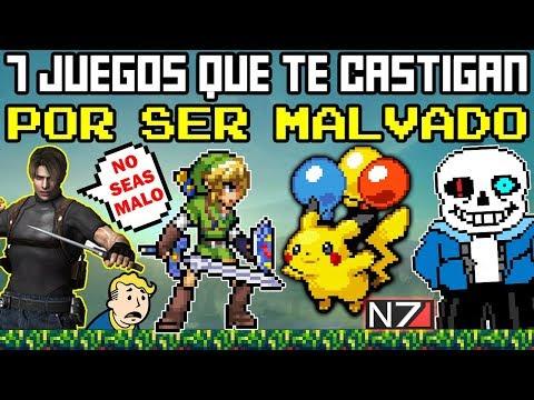 Top 7 Videojuegos que te Castigan por ser MALVADO