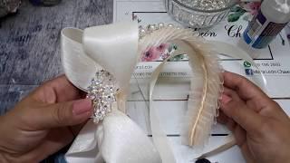 Como hacer una diadema elegante para ceremonia 15 años o algo en ESPECIAL  MAYRA LEÓN  