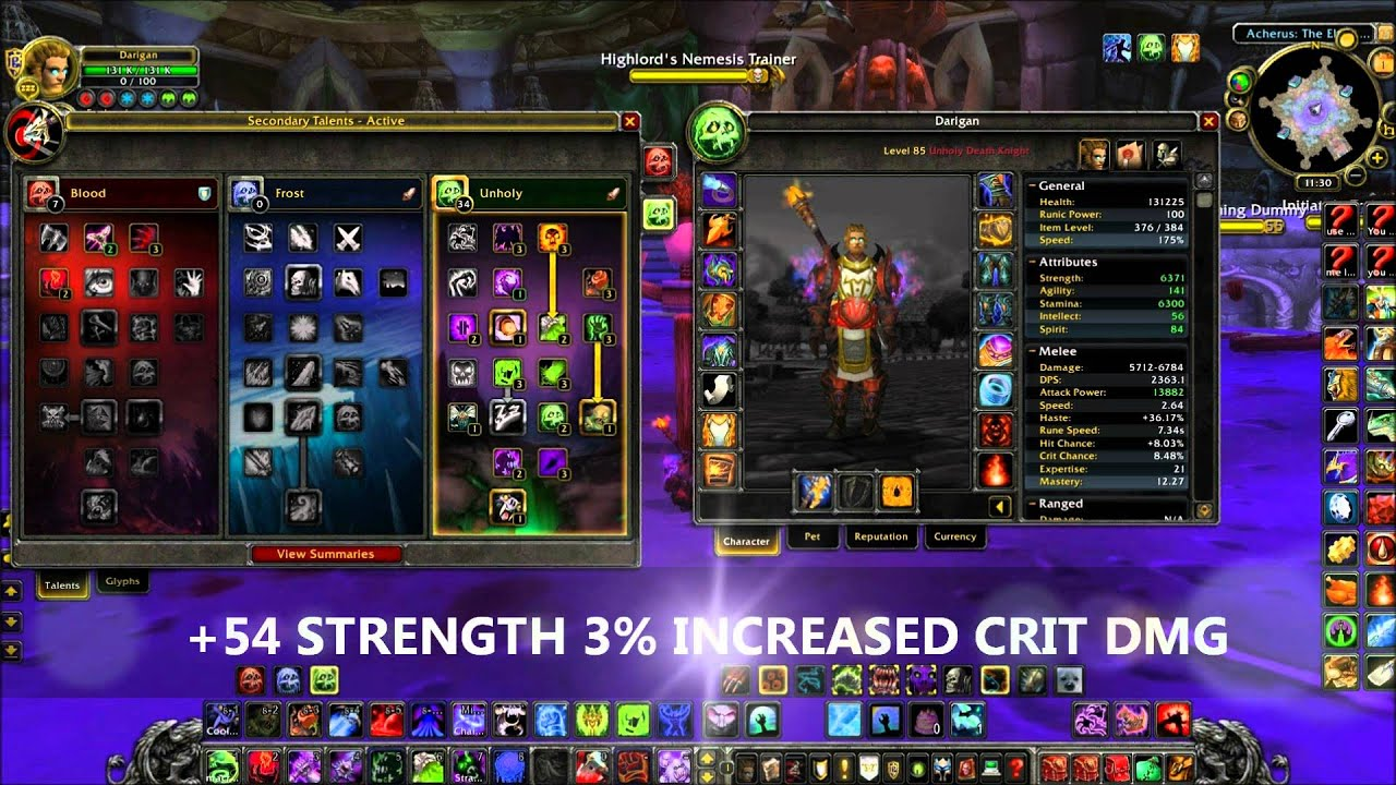 Unholy Death Knight Dps Guide 4 3 Pve Youtube