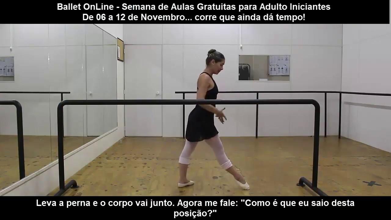0348274798 Aula de Ballet OnLine para Adulto - Gratuito! - YouTube
