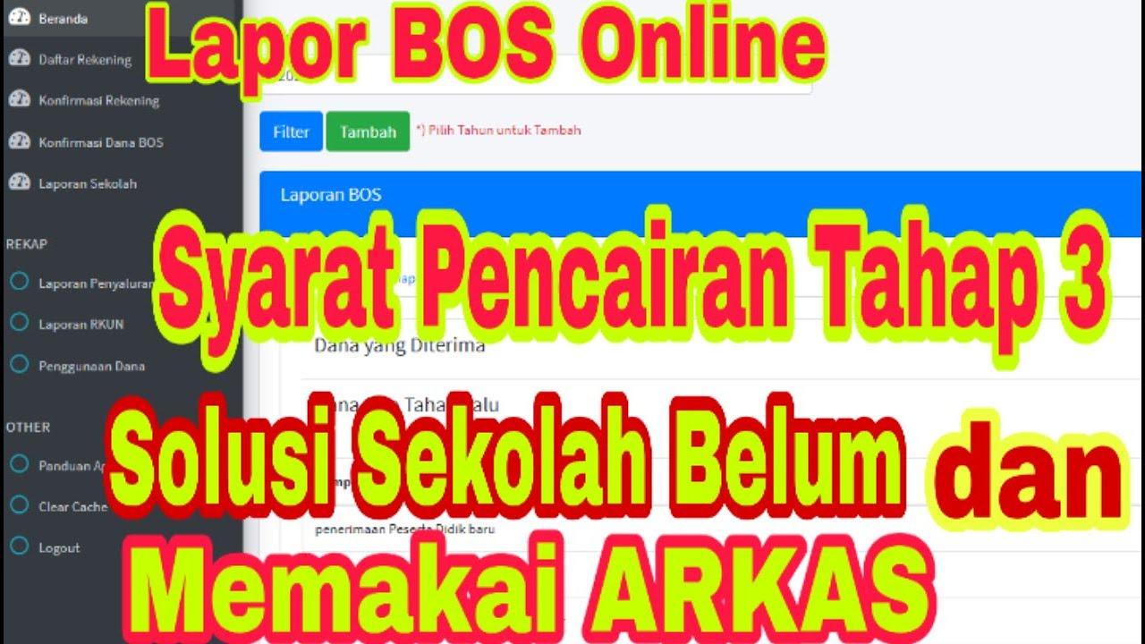 Syarat Pencairan Tahap 3 Cara Laporan Bos K7a Online 2020 Di Situs Bos Kemendikbud Go Id Calon Guru Youtube