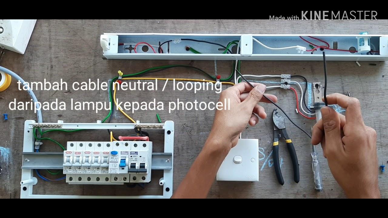 How To Install A Photocell Sensor Cara Mudah Pemasangan Photocell Youtube