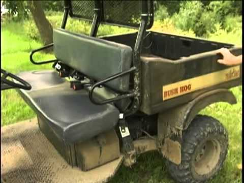 bush hog trail hand th4400 youtube rh youtube com