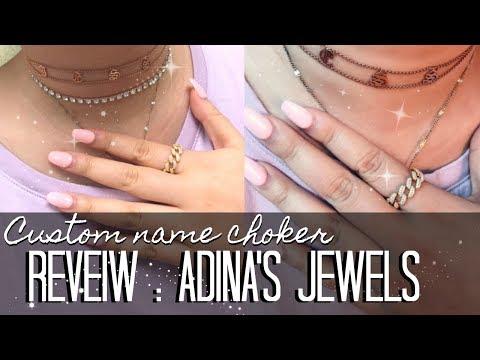 FIRST IMPRESSIONS | ADINA'S JEWELS  Old English Choker & Ring Alternative to HRH Chain Ring | J Wong