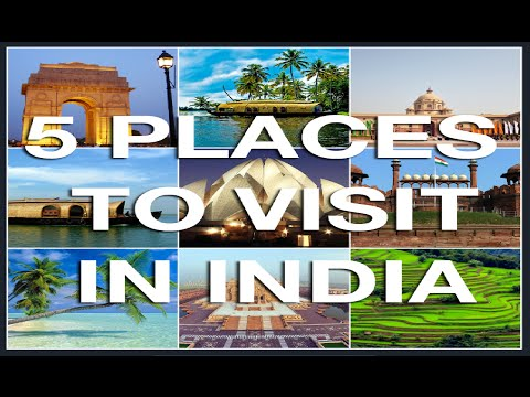 Must Watch 5 Most Lovely Places in India You Should Definitely Visit. History Nature and Culture.