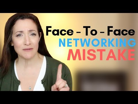 #1 Worst Face-To-Face Networking Mistake