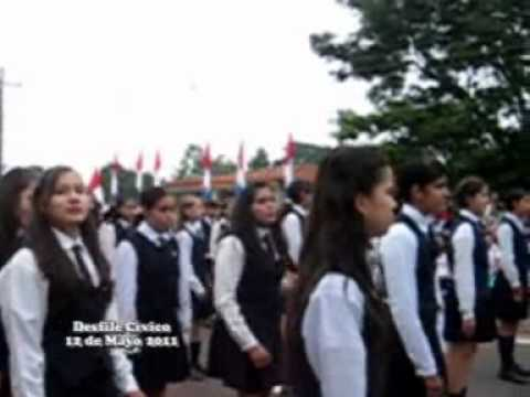 Desfile civico por Bicentenario - Ayolas Paraguay - 2011 - 4ta parte