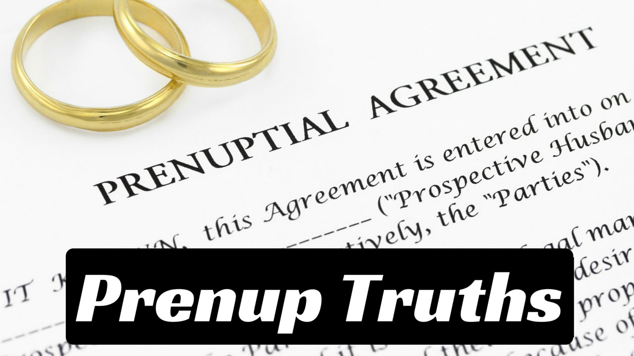 When Do You Need A Prenuptial Agreement Youtube