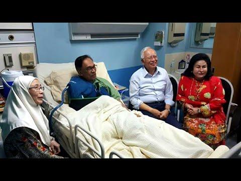 Najib dan Rosmah Lawat Anwar Ibrahim di HKL