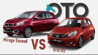 Mitsubishi Mirage Exceed vs Honda Brio RS I Review | OTO.com