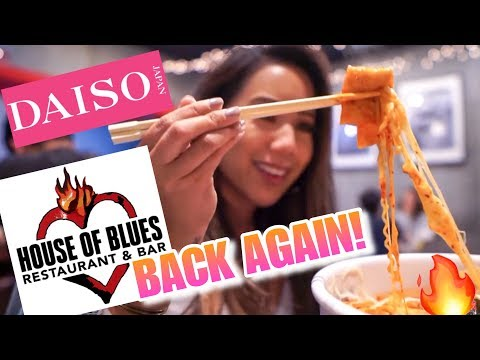 DAISO, HOUSE OF BLUES ANAHEIM, YUPDUKK LA - SPICY RICE CAKES | RAW VLOG WK 338