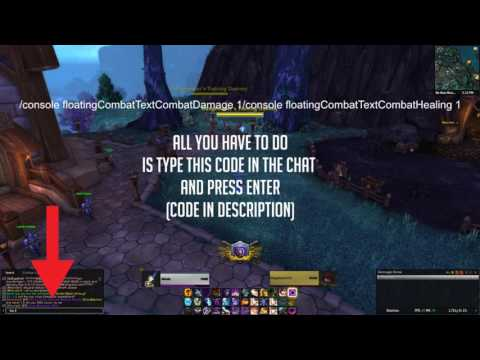 How to fix missing scrolling combat text in World of Warcraft