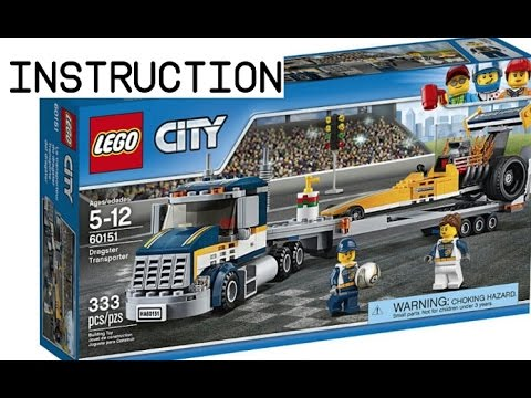 2017 Lego City Dragster Transporter instruction 60151
