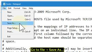 how to find and edit the Hosts file on Windows 10 - Tutorial