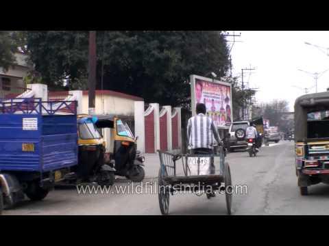 Driving through streets of Dehradun