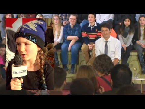 Young Citizen (Ella) Questions PM Trudeau About Disability And Immigration