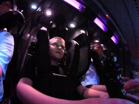 Jude rides Mission SPACE orange at Epcot  Orlando Florida