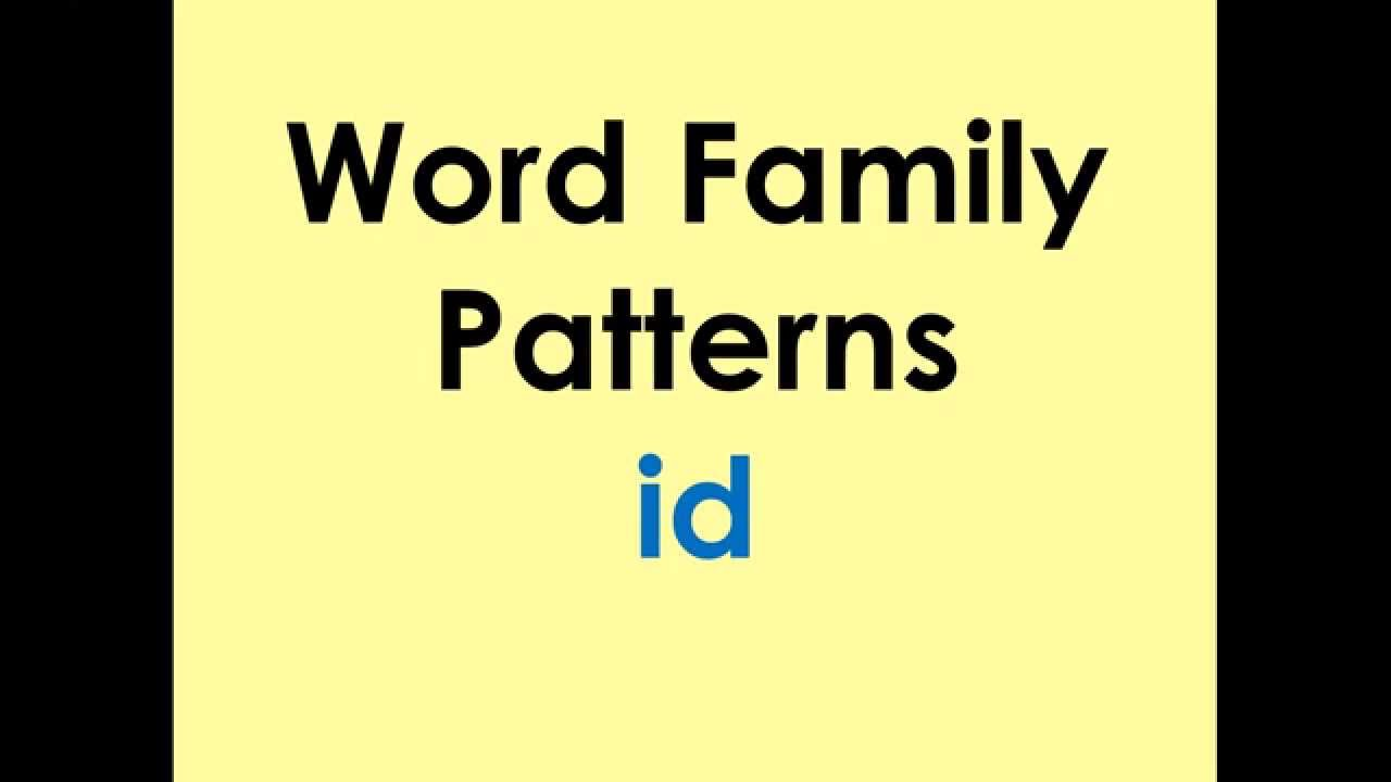 word family patterns id youtube