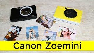 обзор и сравнение фото камер с моментальной печатью Canon Zoemini S и Zoemini C