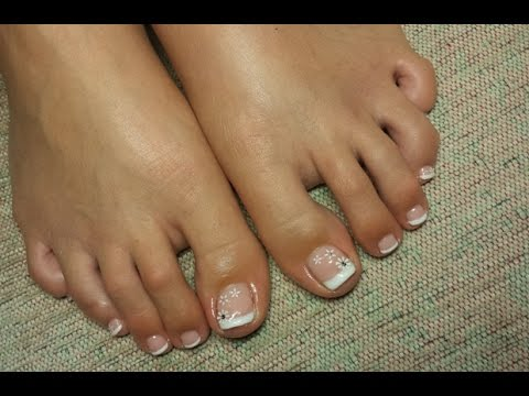 French Pedicure Gelish Nails