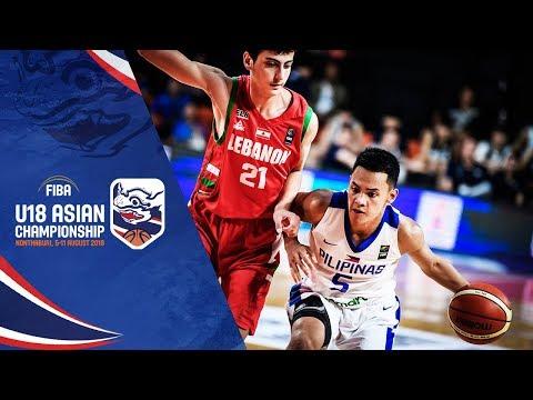 Philippines v Lebanon - Full Game - FIBA U18 Asian Championship 2018
