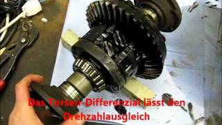 Torsen Audi Test Mittel + Hinterachsdifferenzial Audi 200 quattro 20v Doppeltorsen