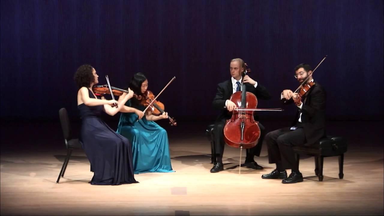 Chiara Quartet plays Brahms 'Viola' Movement by Heart