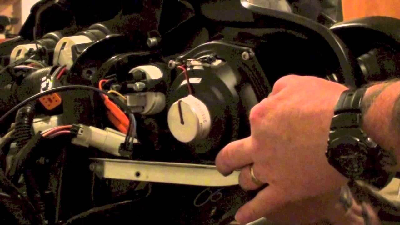 uninstall install replace front fairing speakers on harley davidson touring pre 2014 youtube [ 1280 x 720 Pixel ]
