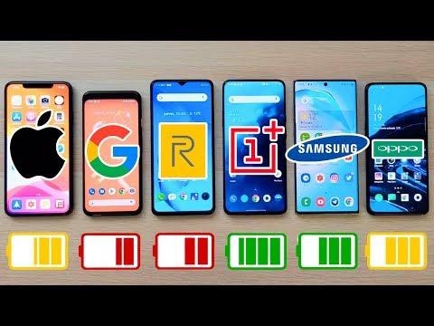 IPhone 11 Pro Max Vs Pixel 4 Vs OnePlus 7T Pro Vs Note 10+ Y Realme X2 Pro | TEST BATERIA EXTREMO!!