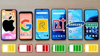 iPhone 11 Pro Max vs Pixel 4 vs OnePlus 7T Pro vs Note 10+ y Realme X2 Pro | EXTREME BATTERY TEST!!