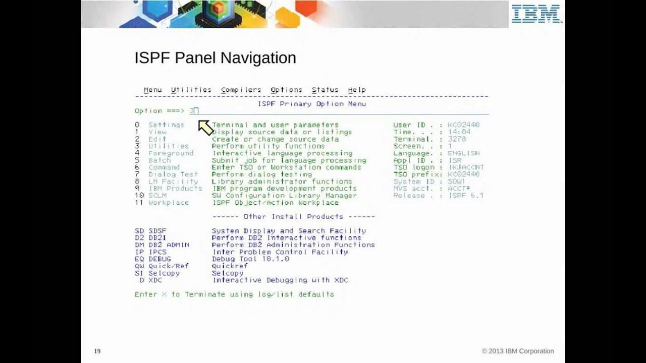 IBM Academic Initiative TSO, ISPF, SDSF, the ISPF editor - Unit 04