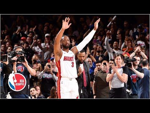 Dwyane Wade has emotional farewell at MSG | Heat vs. Knicks | NBA Highlights thumbnail