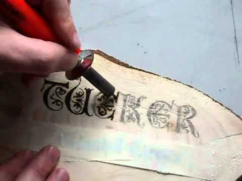 Woodburning A Name Plate Youtube