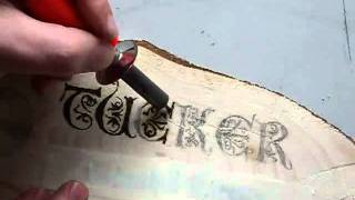 Woodburning a Name Plate