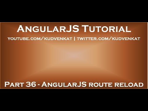 AngularJS route reload