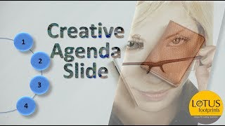 PowerPoint Tricks: Creative Agenda Slide in Powerpoint Presentation