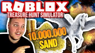 WHAT DO YOU GET FOR 10 MILLION SAND?! 🤔🤑:: Treasure Hunt Simulator Ep. 10-Dansk Roblox