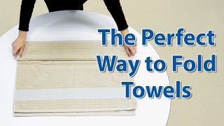 Gain Shelving Space w/ this Towel Folding Trick: Closet Organizing 101