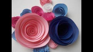 Como hacer flores de papel enrolladas. Tutorial.