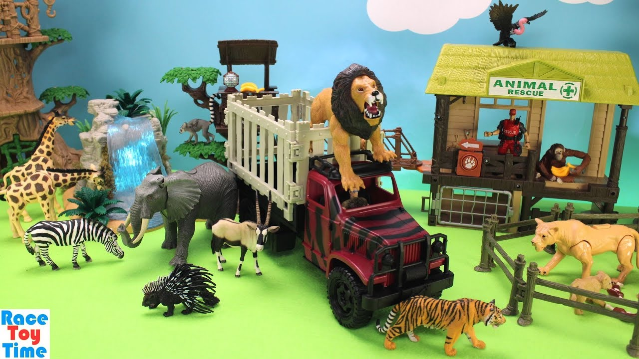 Best Animal Planet Toys For Kids And Toddlers : Animal planet lion rescue transport playset fun learning
